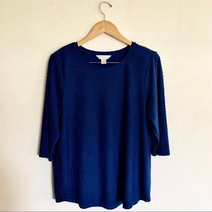 Christopher & Banks textured long sleeve top